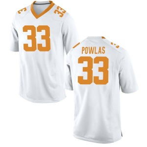 Ben Powlas Nike Tennessee Volunteers Youth Replica College Jersey - White