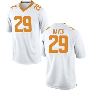 Brandon Davis Nike Tennessee Volunteers Men's Replica College Jersey - White