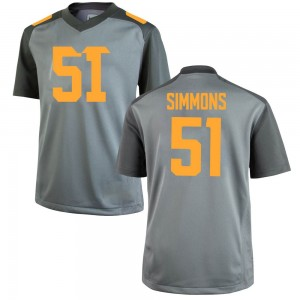 Elijah Simmons Tennessee Volunteers Youth Game College Jersey - Gray