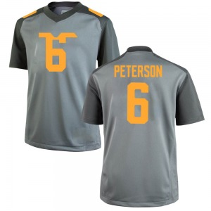 J.J. Peterson Tennessee Volunteers Men's Game College Jersey - Gray