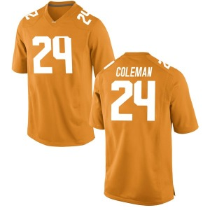 Trey Coleman Nike Tennessee Volunteers Men's Replica College Jersey - Orange