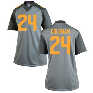 Trey Coleman Nike Tennessee Volunteers Women's Replica College Jersey - Gray